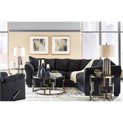 DARCY BLACK SECTIONAL 75008 55/56 Image