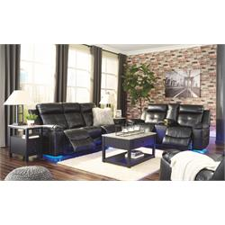 BLACK SOFA/LOVE LEATHER LIGHT UP 82105 88/94 Image